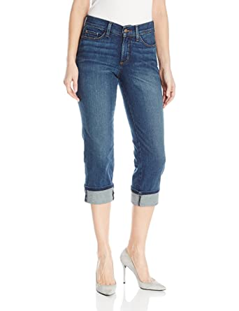 dbb5cdd734 NYDJ Women s Plus Size Dayla Wide Cuff Capri Jeans
