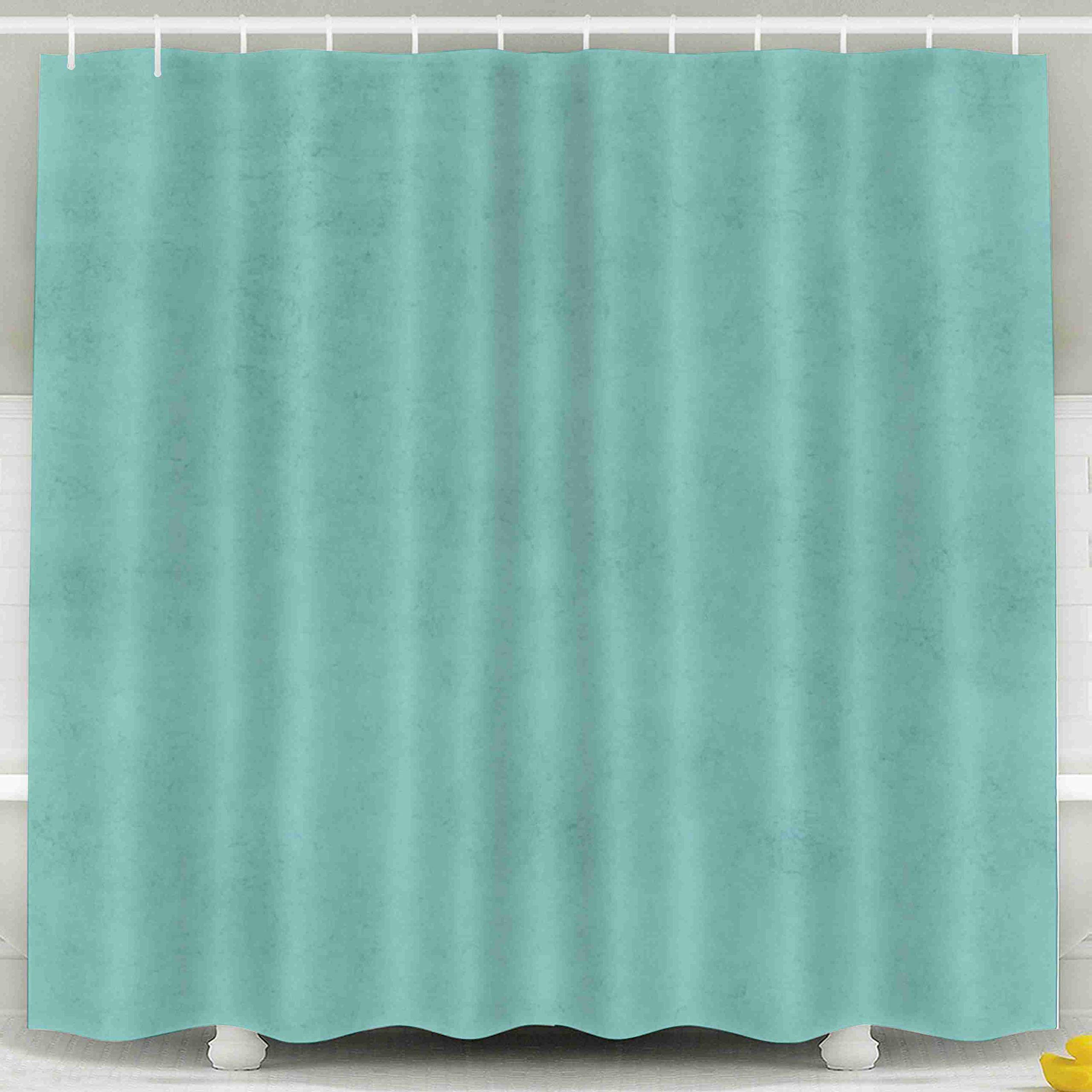 Jacrane Waterproof Fabric Bathroom Clear Shower Curtains Liner with Hooks Vintage Aqua Blue Green Turquoise Parchment Paper Background Texture 72X72Inch,Yellow Green