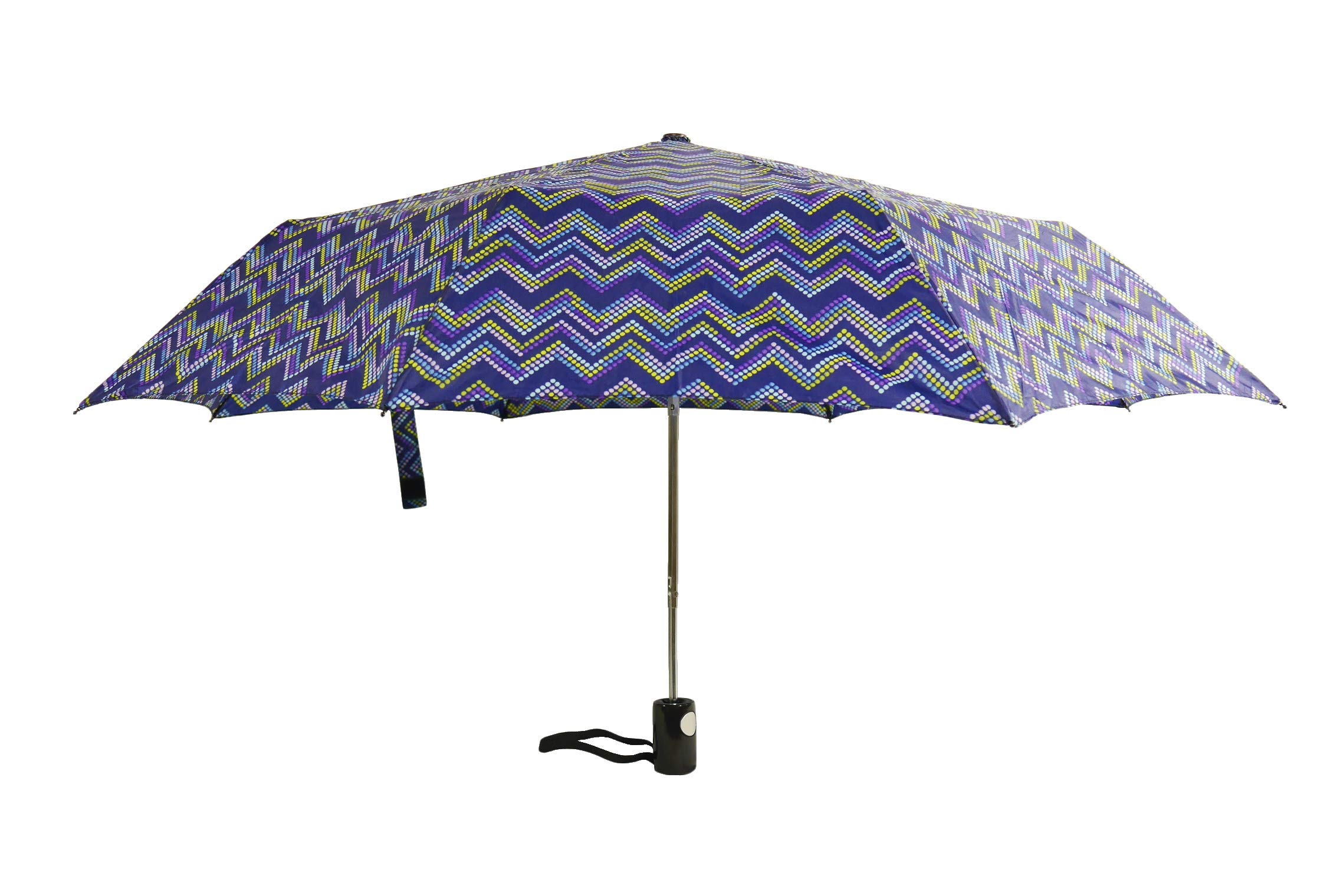 KUD 42 inch Compact Lightweight Auto-open umbrella (Multicolored D) by Keep You Dry (Image #2)