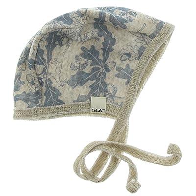 CeLaVi Merino Wool Baby Hat/Cap/Bonnet/Helmet - Dusty Blue (3-24 Months)