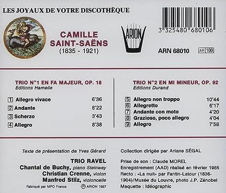 C Saint Saens Trio Nos1 2 Amazoncom Music
