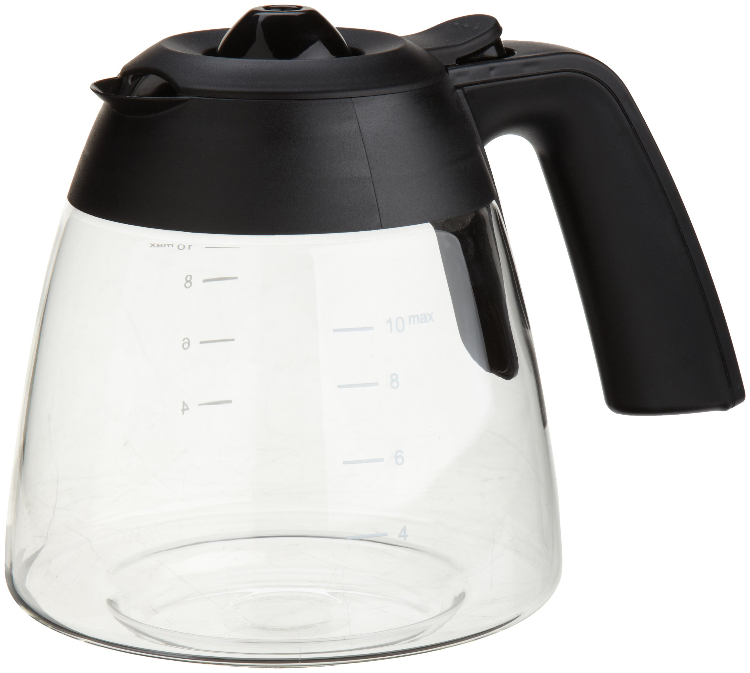 Capresso 4444.01 10-Cup Glass Carafe with Lid for MG600 and CM200 Coffee Maker