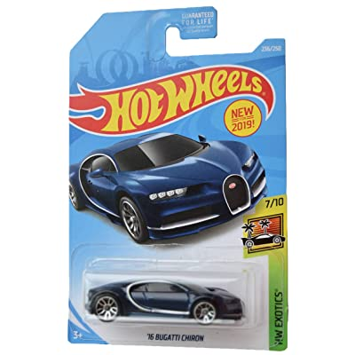 Hot Wheels Exotics 7/10 '16 Bugatti Chiron 236/250, Blue: Toys & Games