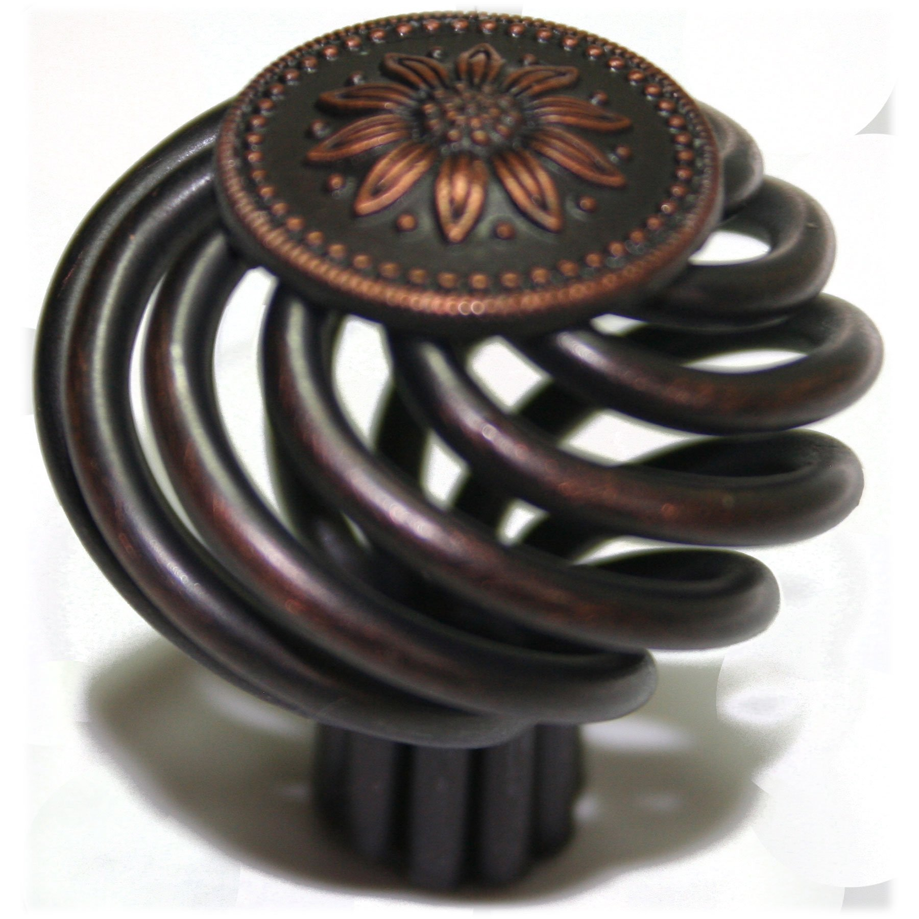 Cabinet Birdcage Knob Oil Rubbed Bronze 1-3/8'' Diameter 1201ORB By Olympia Hardware