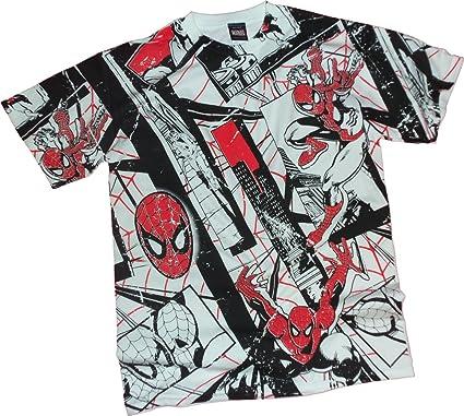 f842c9bbf Amazon.com: Red Silk - Spider-Man All-Over Print T-Shirt: Clothing