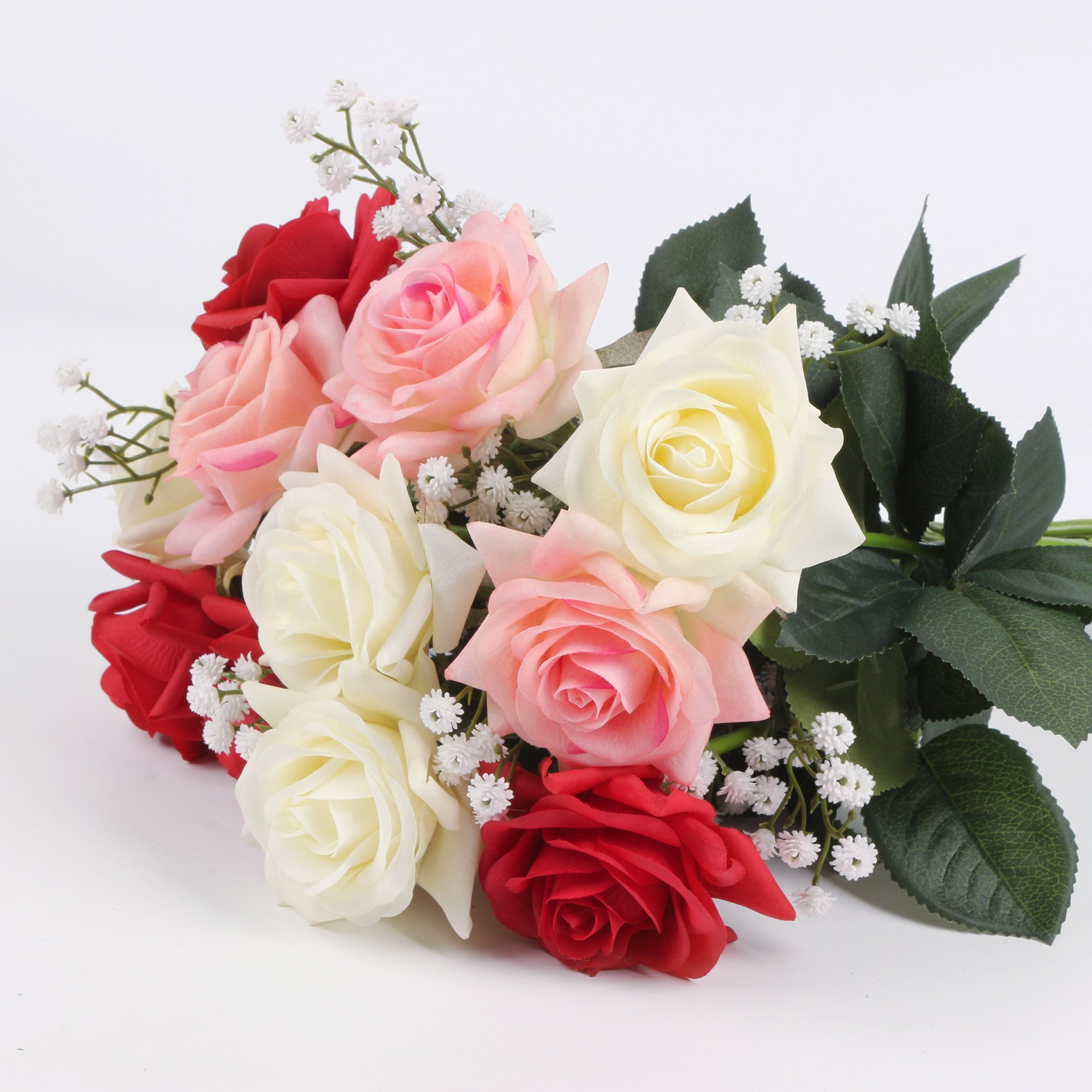 Senjie Artificial Fake Flowers Babys Breathgypsophila Bouquets For
