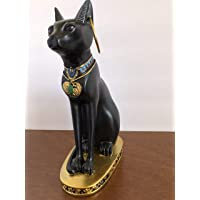 YOUNI - Ancient Egypt Kitty Egyptian Bastet Sculpture Cat Goddess Statue Collectible, Black, 12 inches