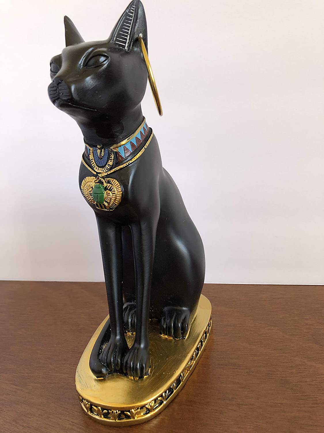 YOUNI - Ancient Egypt Kitty Egyptian Bastet Sculpture Cat Goddess Statue Collectible (Bronze, 9 inches)