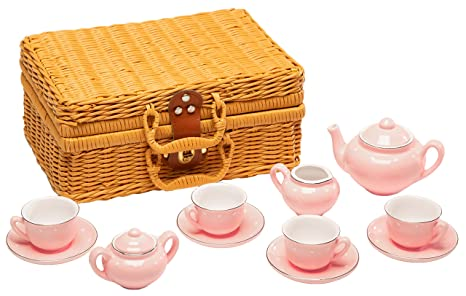 a532835f863 Image Unavailable. Image not available for. Color  MMP Living Children s 13  Piece Porcelain Play Tea Set ...