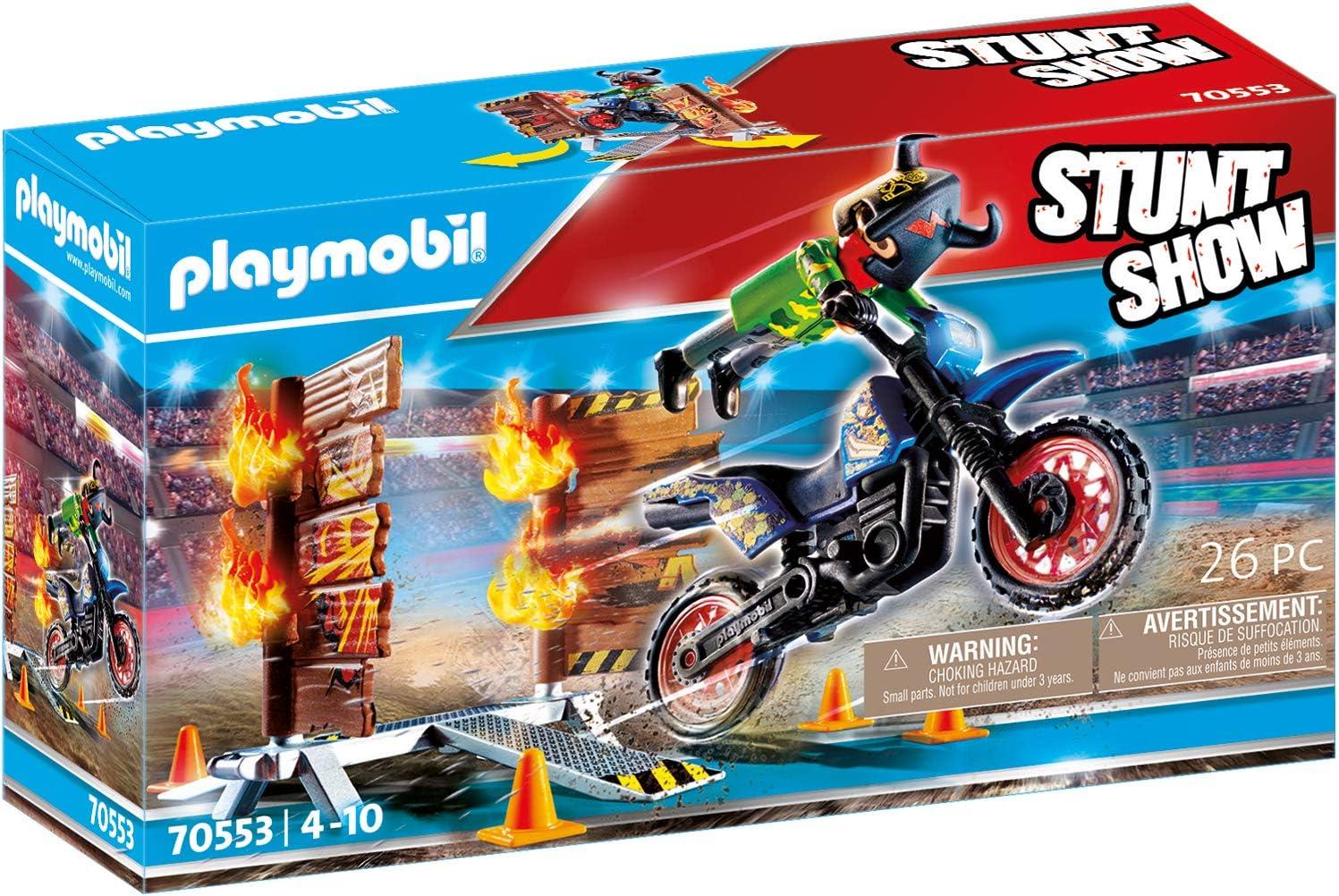 F/ür Kinder von 4-10 Jahren PLAYMOBIL Stuntshow 70551 Crashcar