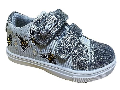 Laura Biagiotti Scarpe Bambina Primi Passi Sneakers Glitter Argento 3524  (22 EU) 092e6549efc