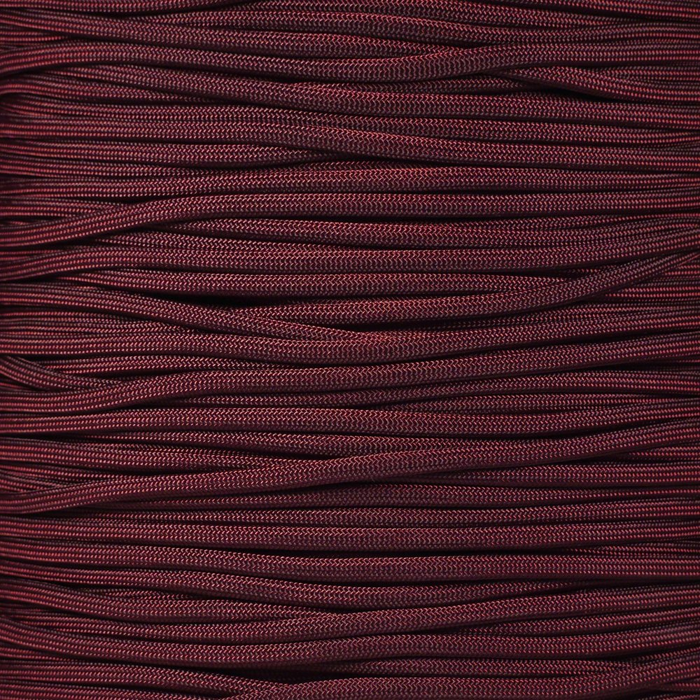 PARACORD PLANET 550 Paracord - Solid Colors - for Indoor and Outdoor Applications (10 Feet, Burgundy)