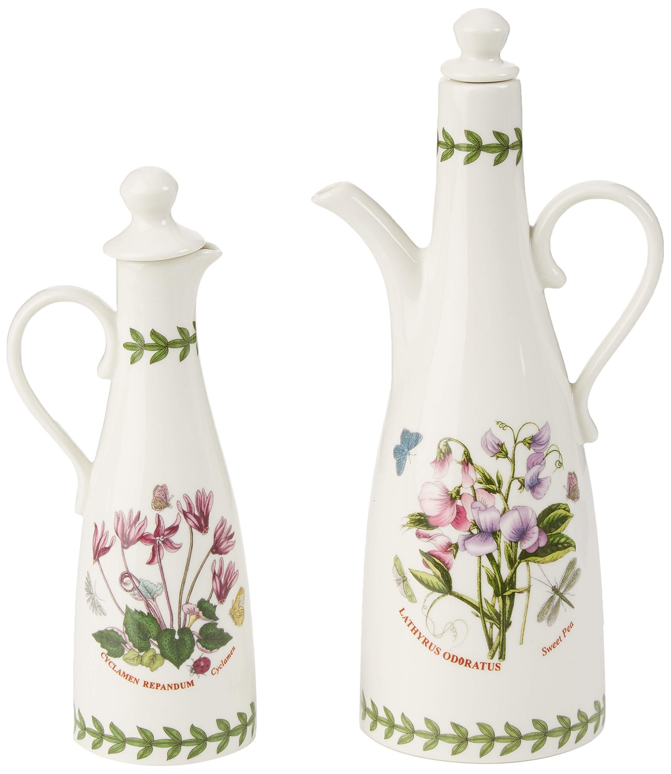 Portmeirion 612631 Botanic Garden Oil & Vinegar Set, White by Portmeirion