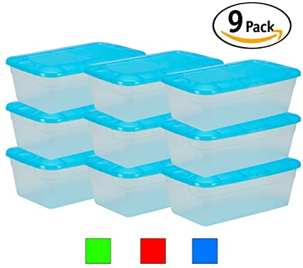 DecorRack Clear Plastic Storage Containers, Shoe Boxes, Stackable, Also  Perfect For Toy Storage