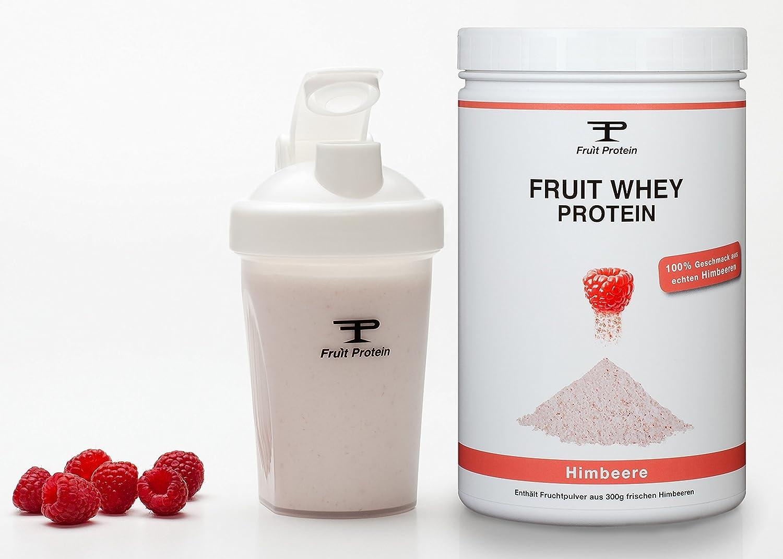 Fruit proteína Whey Frambuesa (1 x 750g)   con lacado ...