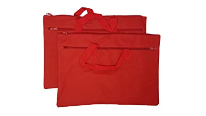 a50715984743 ImpecGear Legal Size Bag, Conference Bag, Document Bags, Safe Accessories  Bag, Poly Cloth Value Pack of 2 (Red, 16