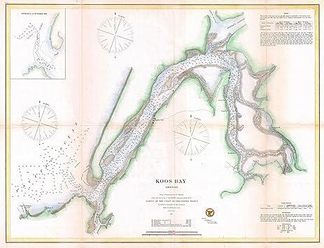 Amazoncom Historical US Coast Survey Map Of Coos Bay - Us map 1865
