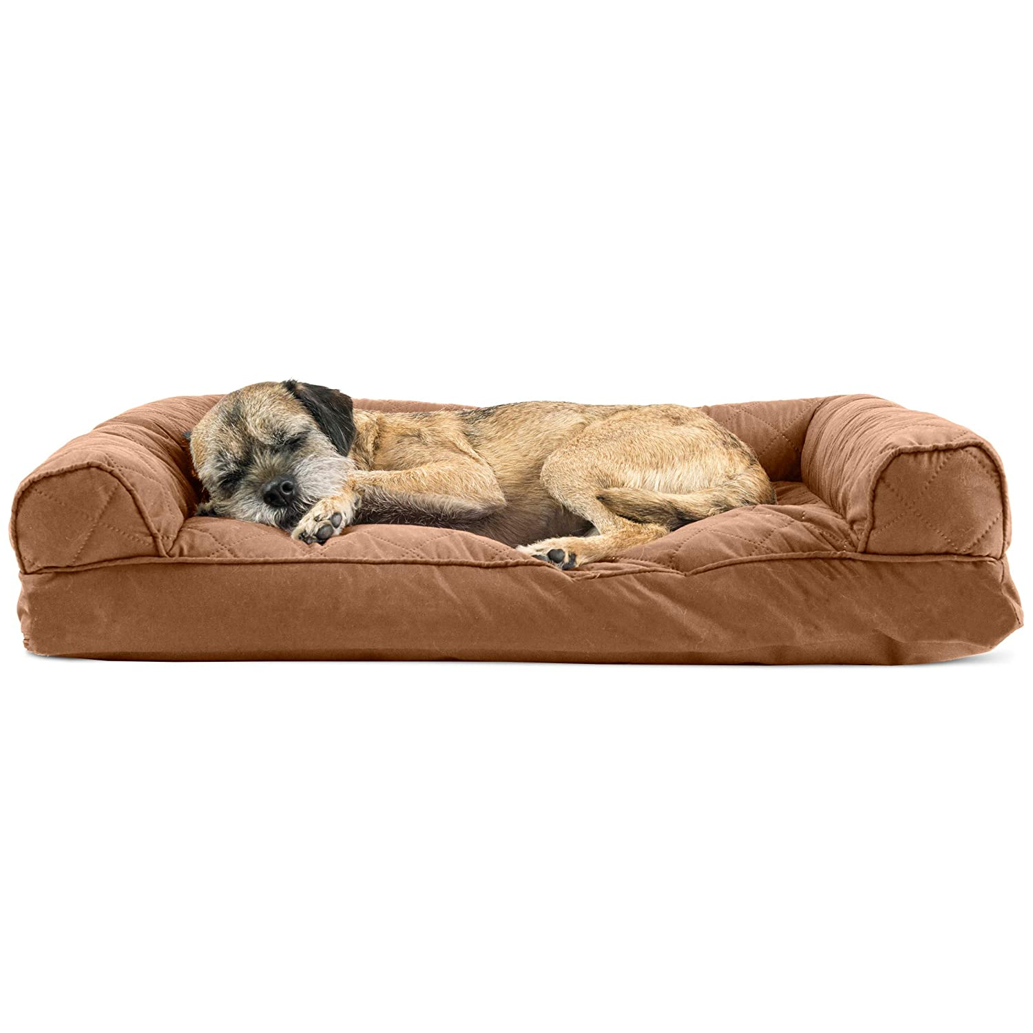 Peachy Furhaven Pet Dog Bed Quilted Pillow Cushion Traditional Sofa Style Living Room Couch Pet Bed W Removable Cover For Dogs Cats Toasted Brown Ncnpc Chair Design For Home Ncnpcorg