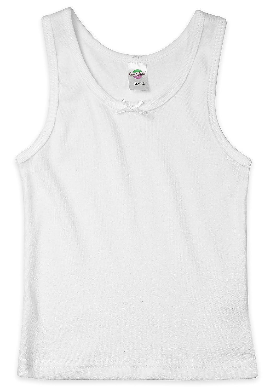 Candyland Girl's Cotton Sleeveless Undershirt-2 Pack