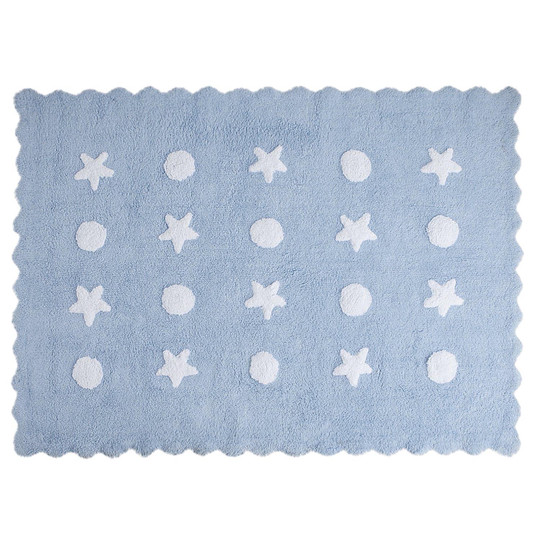 Happy Décor Kids Baby Tapis lavable (120x 60cm, Little Waves Bleu) Management Investment S.L HDK-102 HDK-102_Azul Blanco-120x160(S1pz)