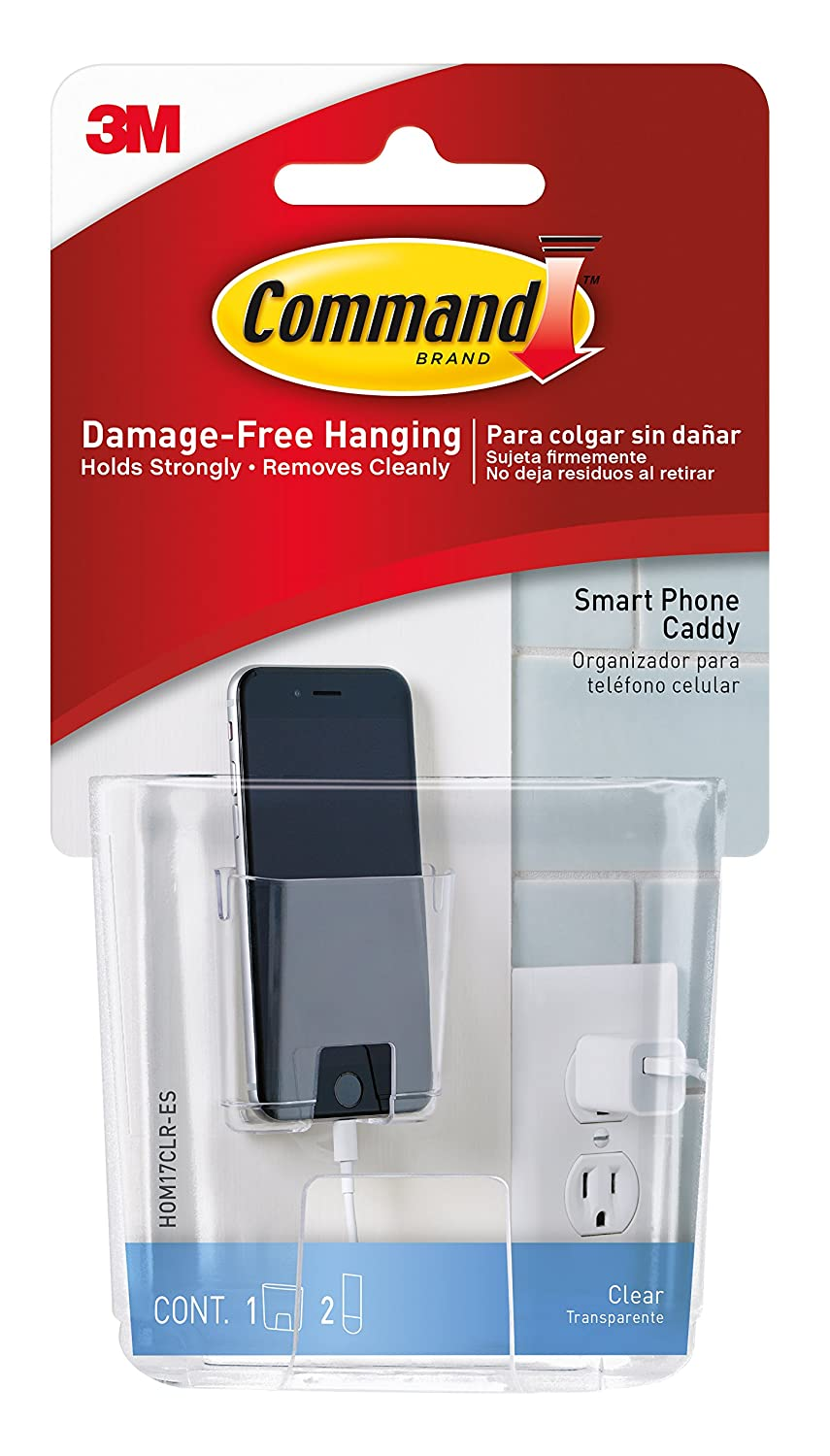 Command Smart Phone Station, Clear 3M HOM-17