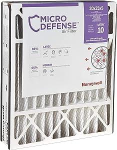 MicroDefense by Honeywell CF508A2025/E Honeywell Filter, 5 Inch, 20x25, Merv 10 MicroDefense, 20x25x5 (Renewed)
