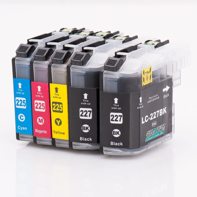 5 Cartuchos de tinta compatibles para Brother LC227XL / LC225XL ...