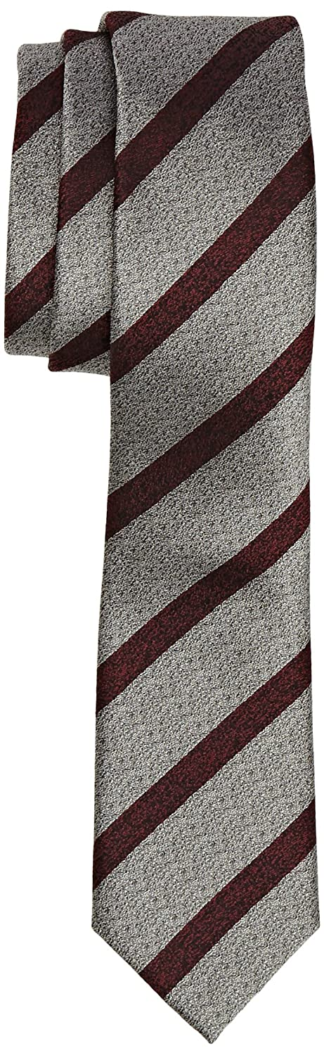 French Connection Bishop Stripe, Corbata para Hombre, Grey Mel ...