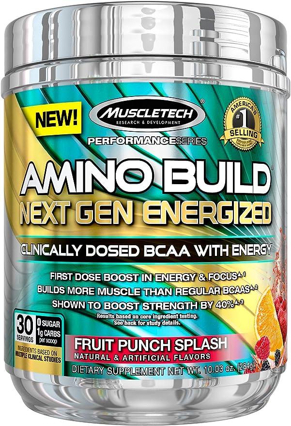 Muscletech Performance Series Amino Build Next Gen Energized Fruit Punch Splash - 270 gr