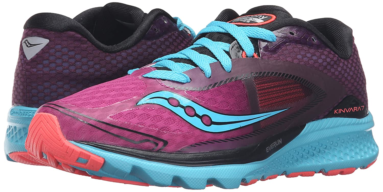 Saucony Women's B018F1H7WE Kinvara 7 Running Shoe B018F1H7WE Women's 6 B(M) US|Pink/Purple/Blue e8f34e