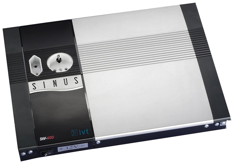 IVT 430004 Sinus-Wechselrichter SW600-12V Spannungswandler (Eingang: Schraubklemme; Ausgang: Euro-/Schukostecker)