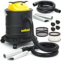 SELLNET Aschesauger 20L Kaminsauger 1600W HEPA Filter + Metallschutzfilter sn173