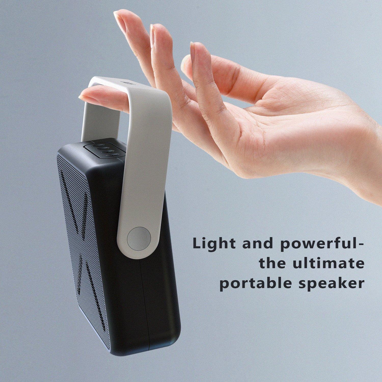 ASIMOM Box Portable Bluetooth Speaker Bass Enhancement,Built-in Mic, AUX/USB/TF Card Slot,Bluetooth 4.0 Wireless Speaker for Gift Ideas