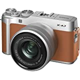 Fujifilm X-A7BW Mirrorless Digital Camera with 15-45mm Lens Variable, megapixels - Camel