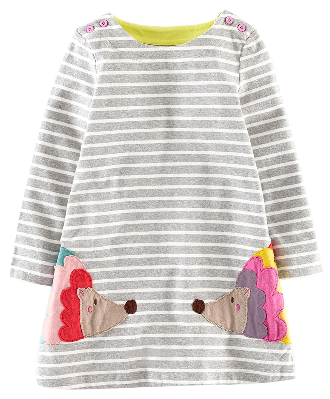 Fiream Girls Cotton Long Sleeve Dress TZlyqxk001