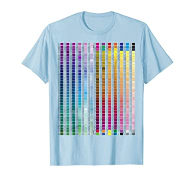 Amazon Dtg Merch T Shirt Colors Chart Reference Guide Light