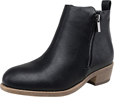 JEOSSY Women's Ankle Boots Thick Heel