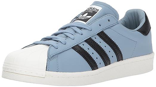 adidas Originals Men\u0027s Superstar Sneaker, Tactile Blue/Black/White, 11.5  Medium US
