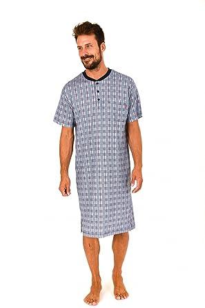 97ecb8f25d Herren Nachthemd kurzarm mit Knopfleiste am Hals - 171 110 90 410:  Amazon.de: Bekleidung