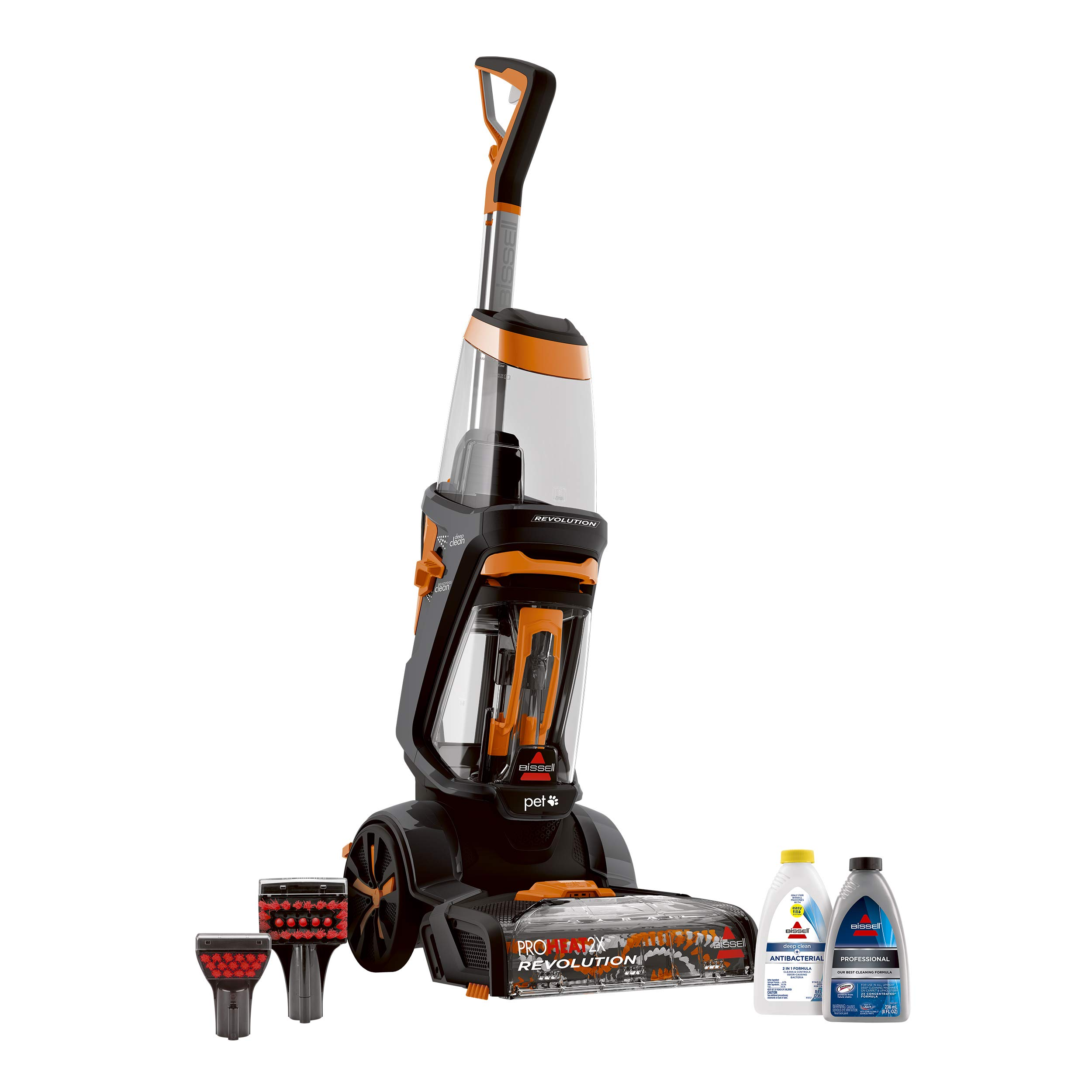 BISSELL ProHeat 2X Revolution Pet Full Size Upright Carpet Cleaner, 1548F, Orange by Bissell