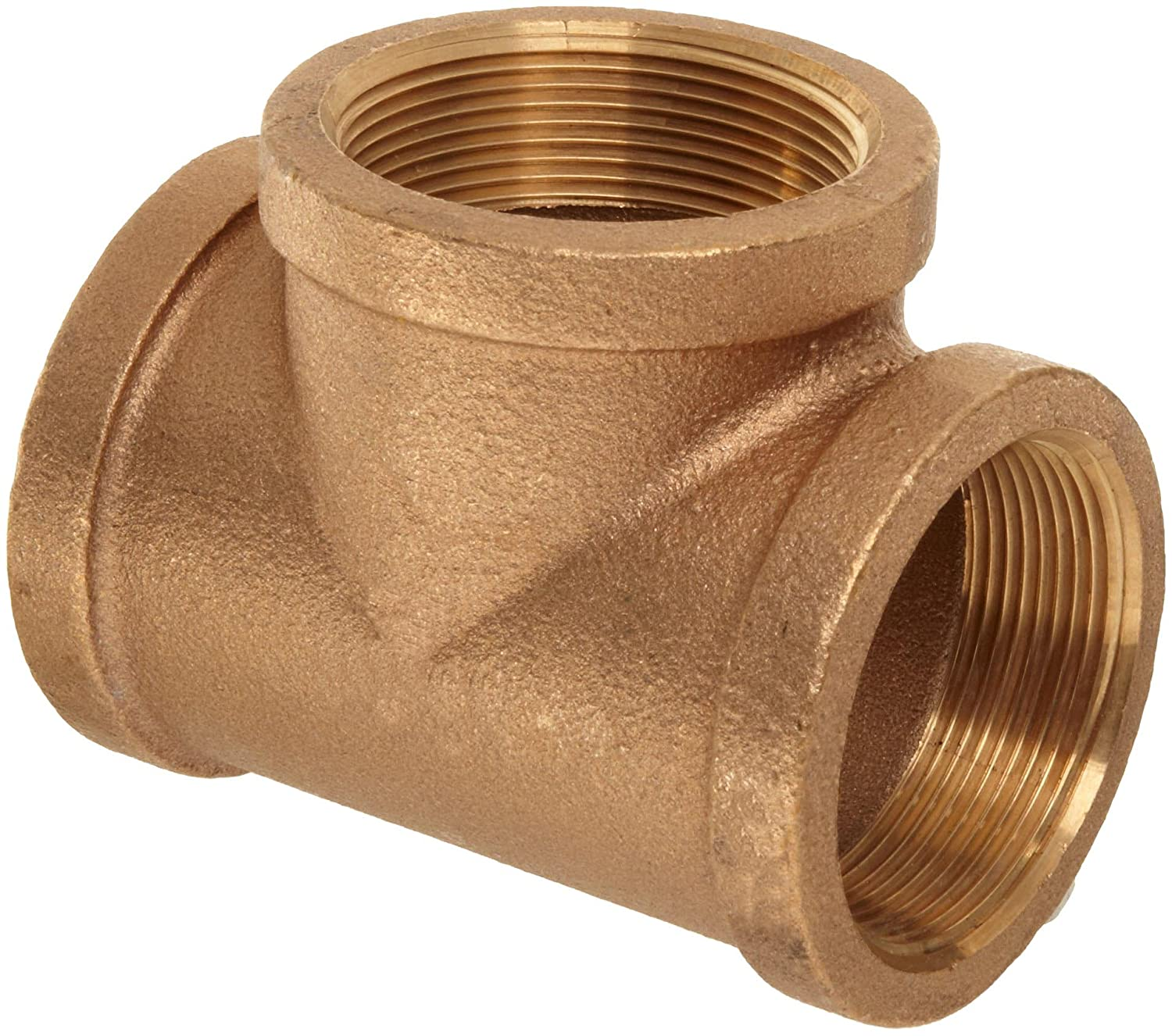 Pipe Tee 3//4 inch Female Thread Fittings Connector Brass NPT