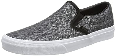 Vans Classic Slip-On, Zapatillas Unisex Adulto, Negro (Embossed Stingray Black), 37 EU