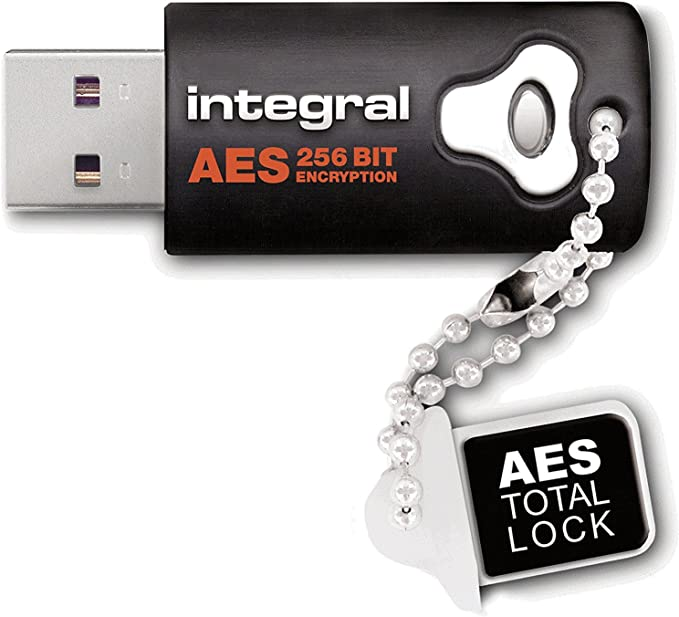 Integral 8gb Aes 256 Usb Stick Crypto Total Lock Computer Zubehör