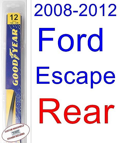 Juego de repuesto de escobilla para limpiaparabrisas de Goodyear-Hybrid para Ford Escape 2008-