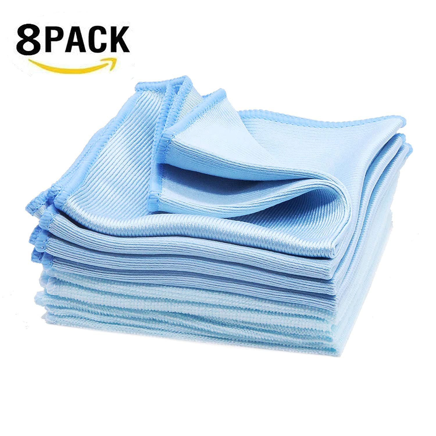 1e55970866c Amazon.com  8 Pack Glass Cleaning Cloths