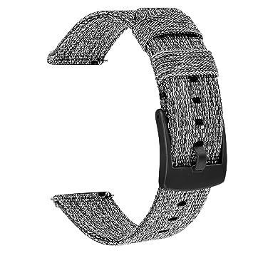 TRUMiRR 18 mm Banda de Reloj de Nylon Tejido de liberación rápida Corchete de Acero Inoxidable