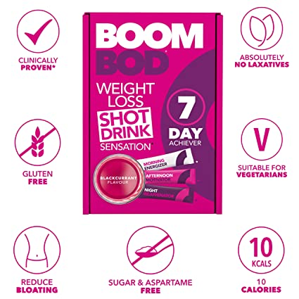 Boombod Weight Loss Shot Drink, Glucomannan, High Potency, Diet and  Exercise Enhancement, Promote Fat Loss, Keto and Vegetarian Friendly, Sugar  and