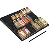 Amazon expand a drawer spice kitchen dining mdesign adjustable expandable spice rack drawer organizer tray insert for kitchen cabinet drawers 3 workwithnaturefo