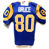 Issac Bruce St Louis Rams Signed Autograph Custom Blue Jersey JSA Witnessed Certified photo