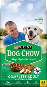 Purina Dog Chow Dry Dog Food, Complete Adult With Real Chicken - (4) 4.4 lb. Bags